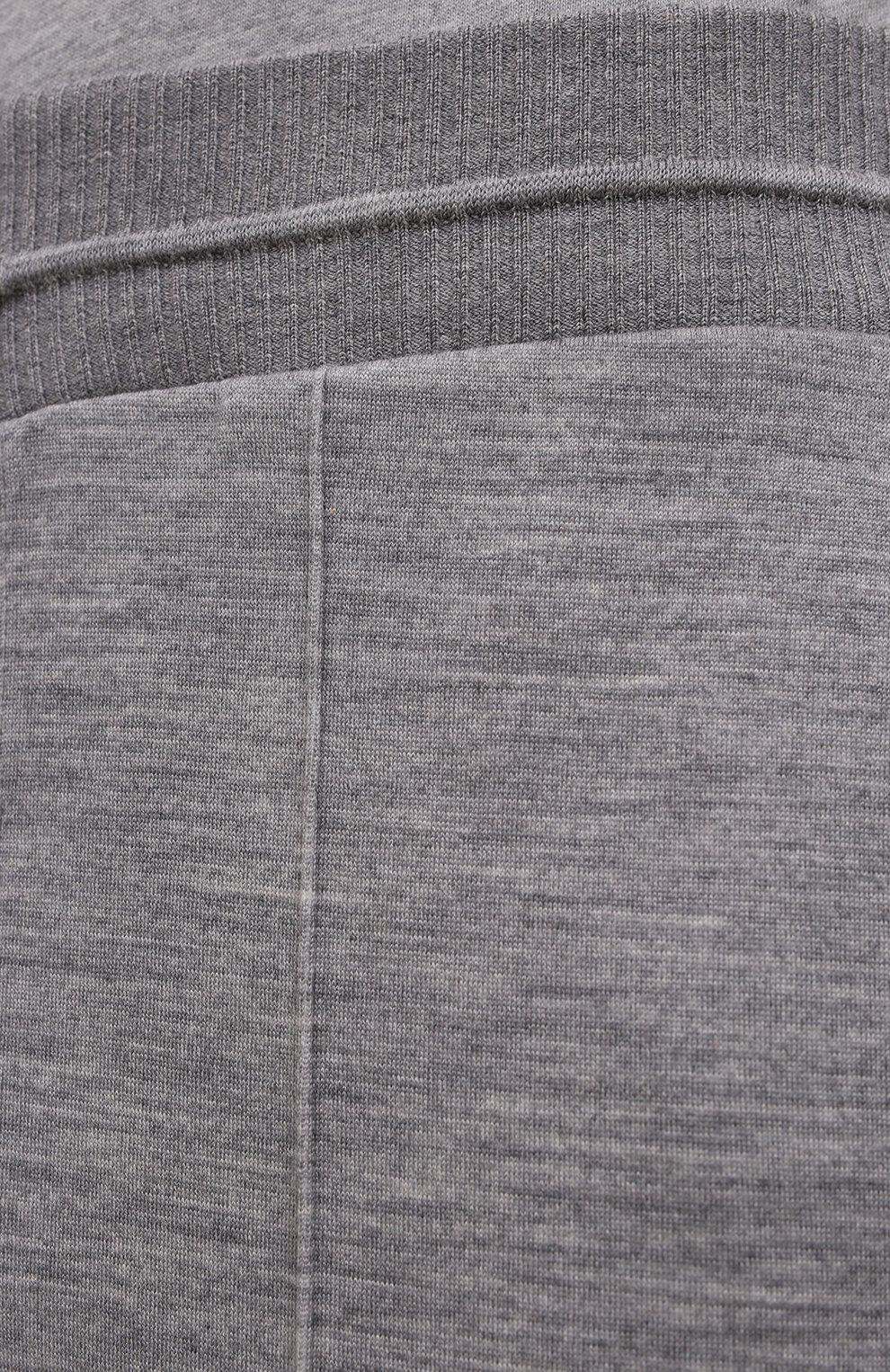 Мужские джоггеры из шерсти и хлопка ERMENEGILDO ZEGNA светло-серого цвета, арт. UW564/TR0   Фото 5