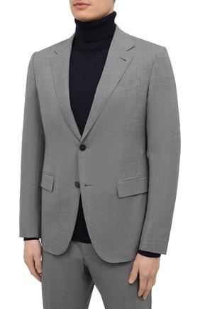 Мужской шерстяной костюм ERMENEGILDO ZEGNA серого цвета, арт. 922529/22FTKY | Фото 2