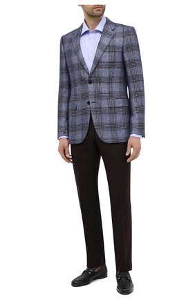 Мужские кожаные лоферы BARRETT темно-зеленого цвета, арт. 171U067.40/CERV0 ASP0RTABILE | Фото 2 (Материал внутренний: Натуральная кожа; Стили: Классический)