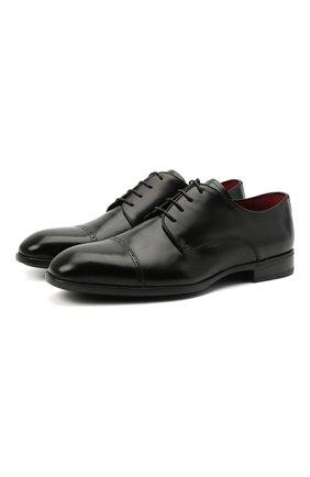 Мужские кожаные дерби BARRETT черного цвета, арт. 202U002.8/VITELL0 K | Фото 1