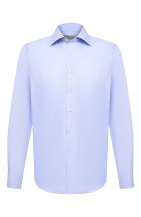Мужская хлопковая сорочка CANALI голубого цвета, арт. N705/GR01592   Фото 1