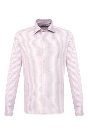 Мужская сорочка из хлопка и льна CANALI розового цвета, арт. NX18/GR02289 | Фото 1
