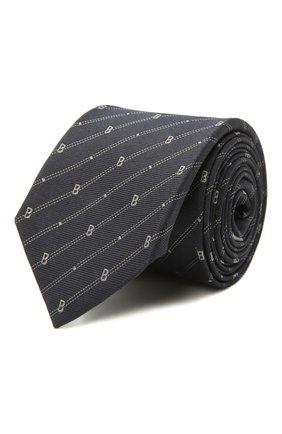 Мужской шелковый галстук BERLUTI темно-синего цвета, арт. T19TJ50-001   Фото 1