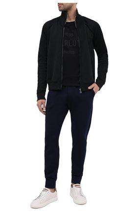 Мужская хлопковый лонгслив BERLUTI черного цвета, арт. R19JRL52-002 | Фото 2