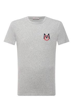 Мужская хлопковая футболка MONCLER серого цвета, арт. G1-091-8C7C6-00-8390T | Фото 1
