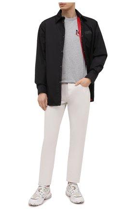 Мужская хлопковая футболка MONCLER серого цвета, арт. G1-091-8C7C6-00-8390T | Фото 2