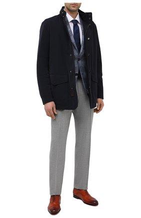 Мужские кожаные оксфорды SANTONI коричневого цвета, арт. MCAZ16503SA3ESCSC45 | Фото 2 (Материал внутренний: Натуральная кожа; Стили: Классический)