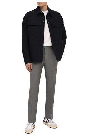 Мужские брюки из шелка и льна TOM FORD зеленого цвета, арт. 976R24/610043   Фото 2
