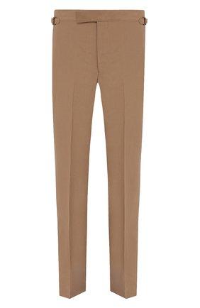 Мужские брюки из шелка и льна TOM FORD бежевого цвета, арт. 976R16/610043 | Фото 1 (Стили: Кэжуэл; Материал подклада: Купро; Материал внешний: Шелк, Лен; Длина (брюки, джинсы): Стандартные; Случай: Повседневный)