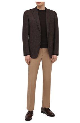 Мужские брюки из шелка и льна TOM FORD бежевого цвета, арт. 976R16/610043 | Фото 2 (Стили: Кэжуэл; Материал подклада: Купро; Материал внешний: Шелк, Лен; Длина (брюки, джинсы): Стандартные; Случай: Повседневный)