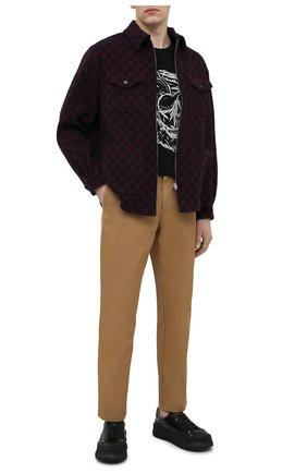 Мужская хлопковая футболка ALEXANDER MCQUEEN черного цвета, арт. 631391/QPZ87 | Фото 2 (Рукава: Короткие; Длина (для топов): Стандартные; Принт: С принтом; Материал внешний: Хлопок; Стили: Панк)
