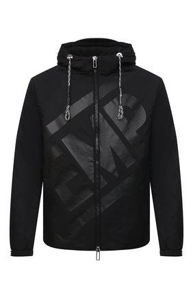 Мужская утепленная куртка EMPORIO ARMANI черного цвета, арт. 3K1BS7/1NZQZ   Фото 1