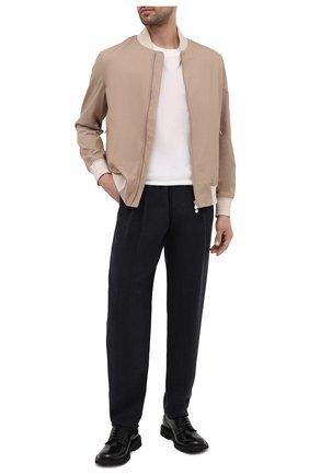 Мужские брюки GIORGIO ARMANI темно-серого цвета, арт. 9SGPP05M/T02KM | Фото 2