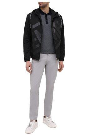 Мужские хлопковые брюки POLO RALPH LAUREN серого цвета, арт. 710644988 | Фото 2 (Материал внешний: Хлопок; Длина (брюки, джинсы): Стандартные; Случай: Повседневный; Стили: Кэжуэл)