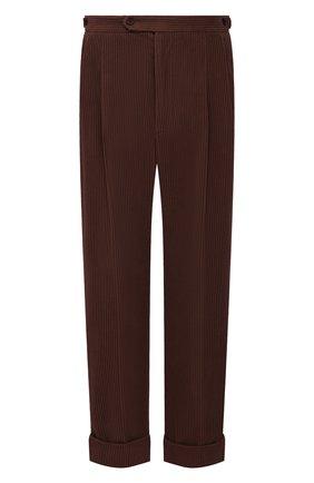 Мужские хлопковые брюки GUCCI коричневого цвета, арт. 643877/Z8AM8 | Фото 1