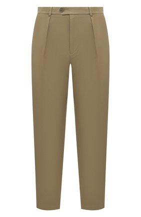 Мужские хлопковые брюки GUCCI бежевого цвета, арт. 639398/ZAF7Y | Фото 1
