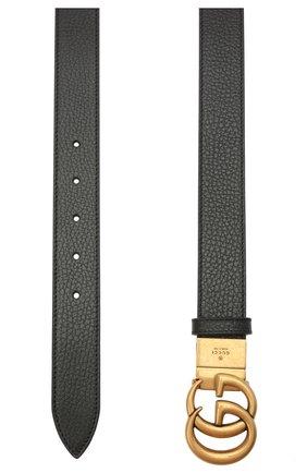 Мужской кожаный ремень GUCCI черного цвета, арт. 643847/CA02T | Фото 2 (Случай: Повседневный)
