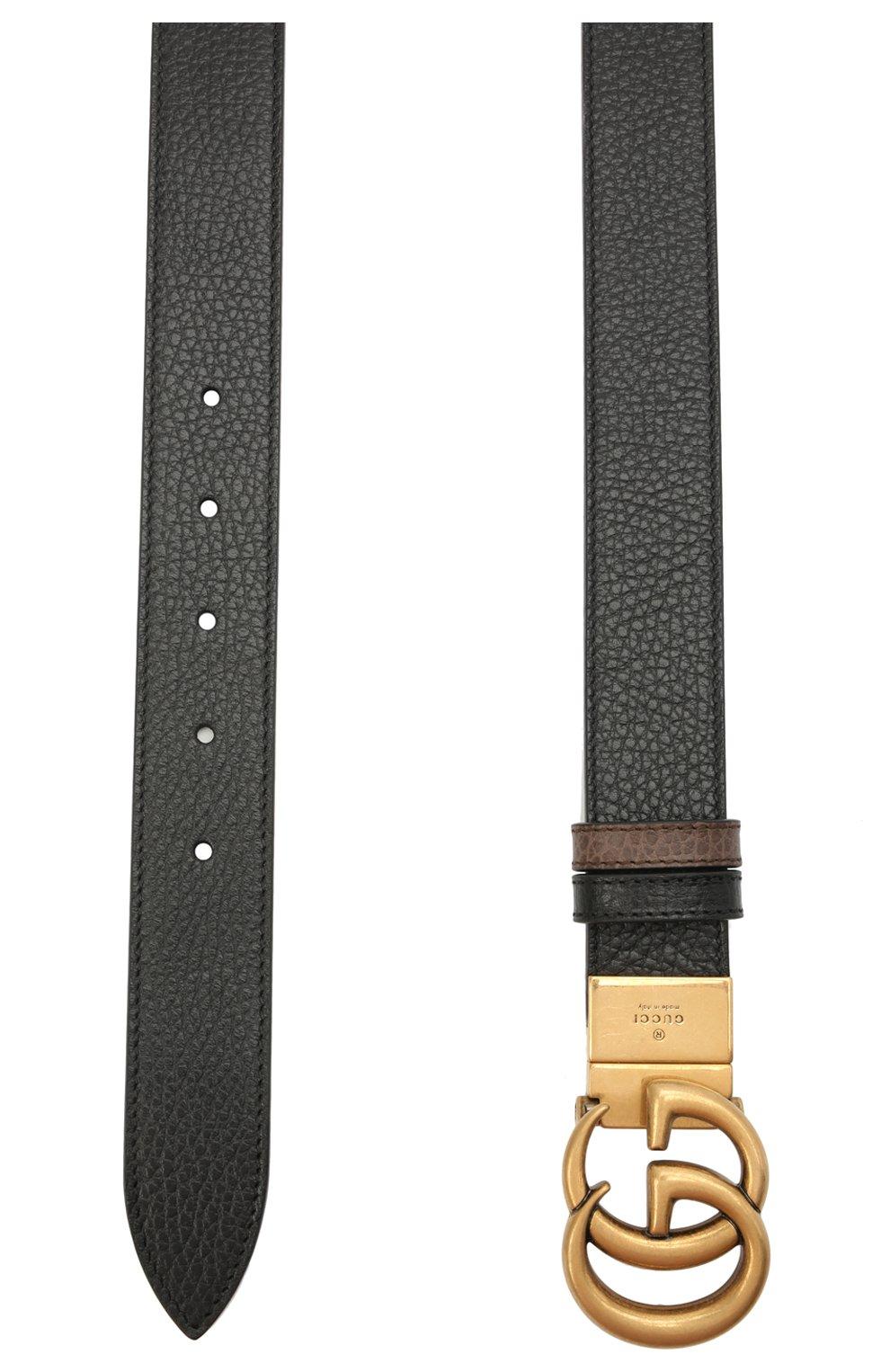 Мужской кожаный ремень GUCCI коричневого цвета, арт. 643847/CA02T | Фото 2 (Случай: Повседневный)