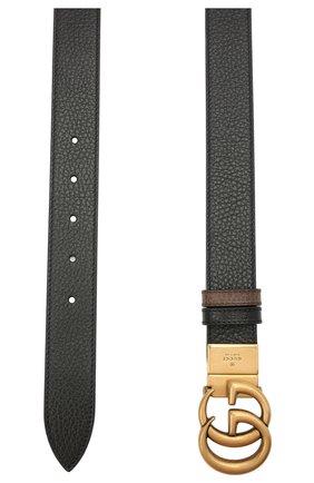 Мужской кожаный ремень GUCCI коричневого цвета, арт. 643847/CA02T | Фото 2