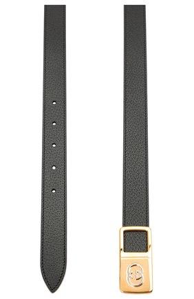 Мужской кожаный ремень GUCCI черного цвета, арт. 643848/DJ20X | Фото 2