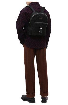 Мужской текстильный рюкзак off the grid GUCCI черного цвета, арт. 644992/H9H0N | Фото 2 (Материал: Текстиль; Ремень/цепочка: На ремешке)