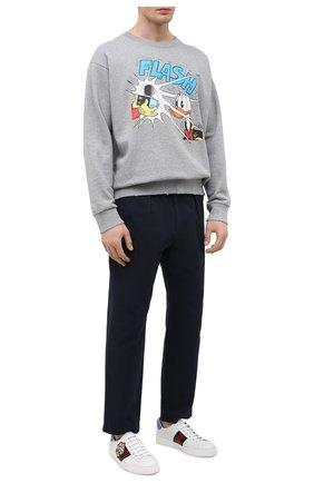 Мужские кожаные кеды ace GUCCI белого цвета, арт. 645019/1XGD0 | Фото 2