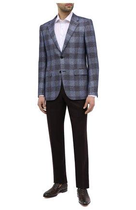 Мужские кожаные лоферы SANTONI темно-коричневого цвета, арт. MCLE17576LA1SMEDT50 | Фото 2 (Стили: Классический; Материал внутренний: Натуральная кожа)