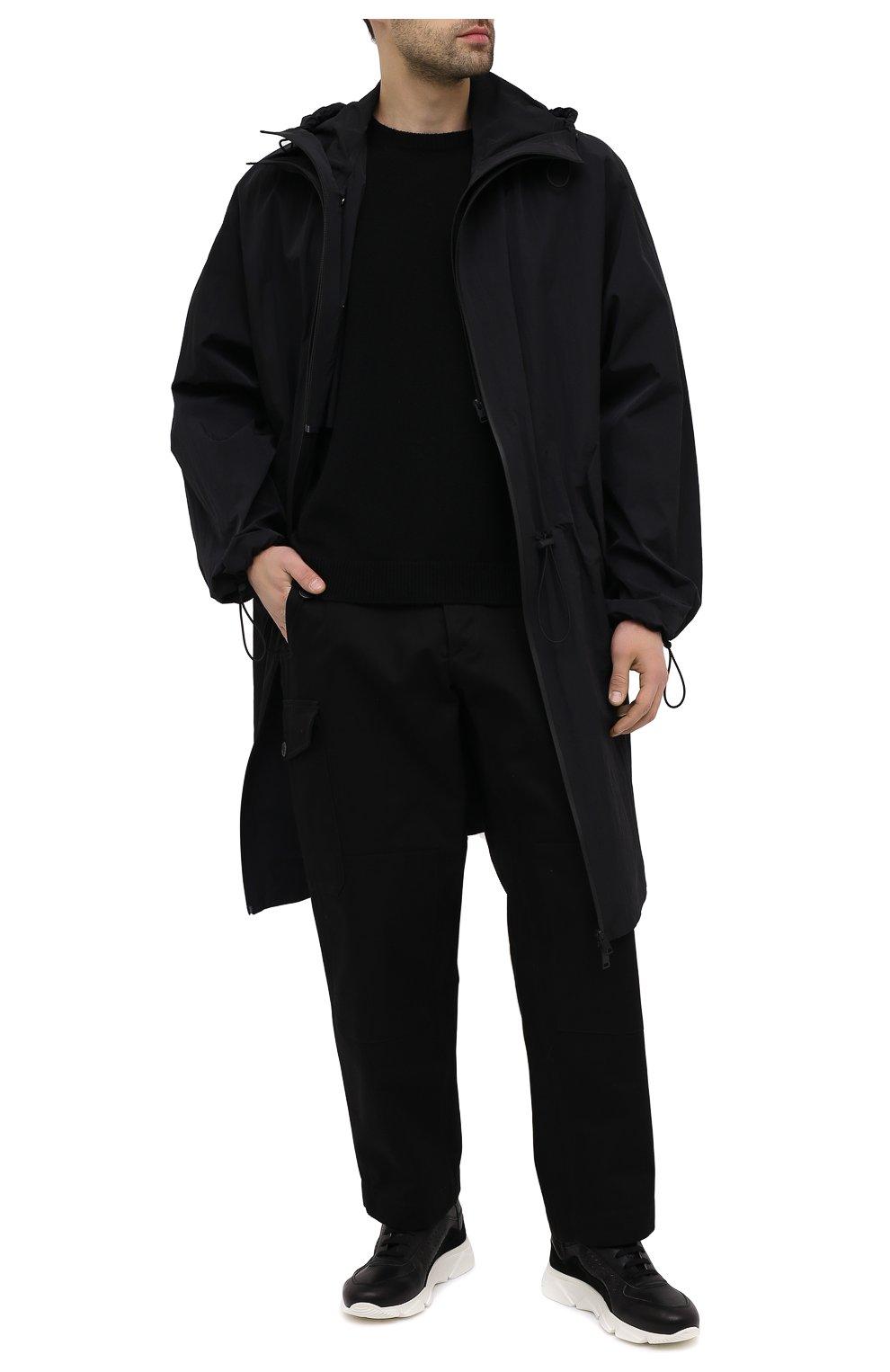 Мужские кожаные кроссовки MOMA черного цвета, арт. 4AS018-CT   Фото 2 (Материал внутренний: Натуральная кожа; Подошва: Массивная)
