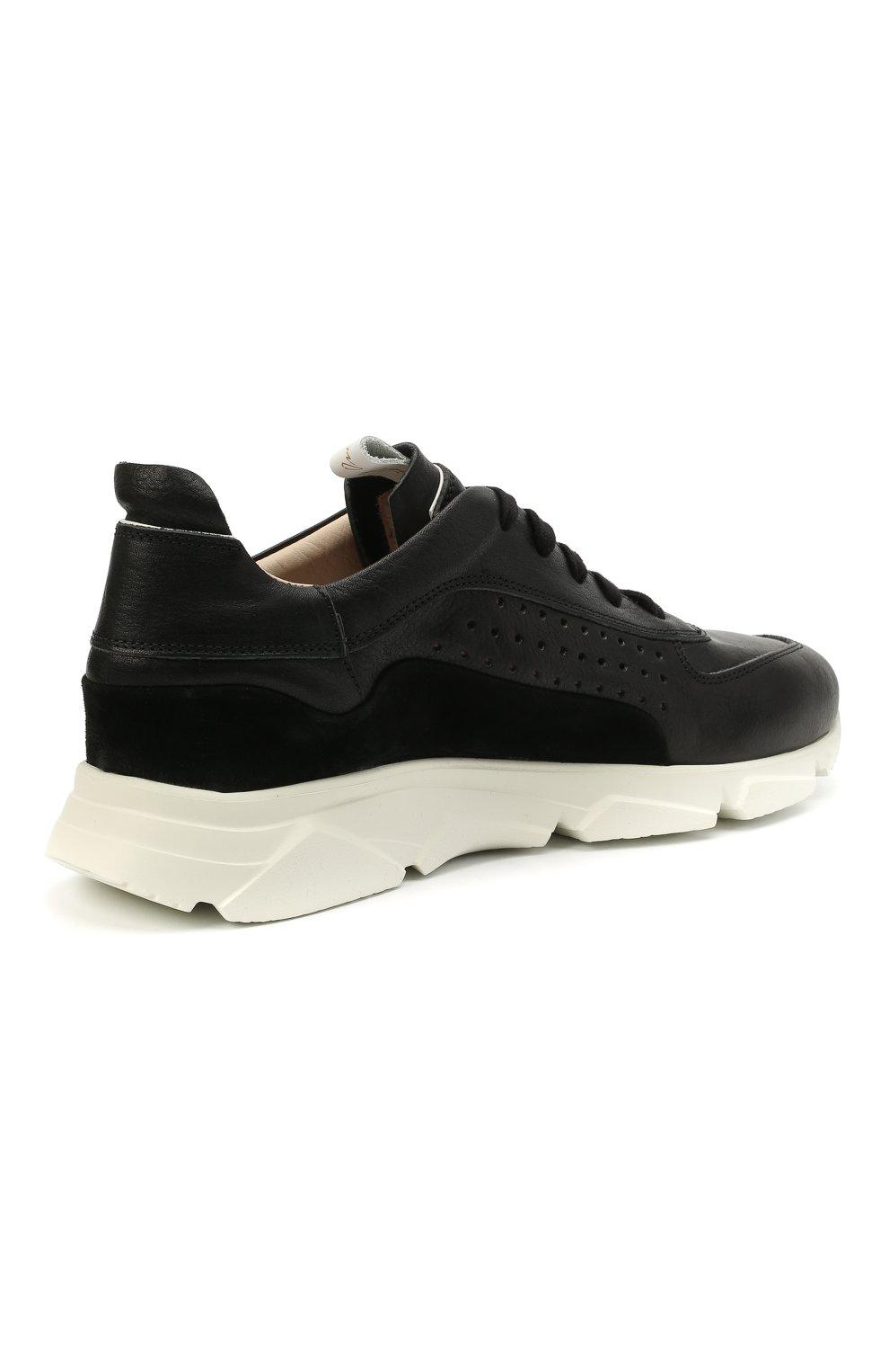 Мужские кожаные кроссовки MOMA черного цвета, арт. 4AS018-CT   Фото 4 (Материал внутренний: Натуральная кожа; Подошва: Массивная)