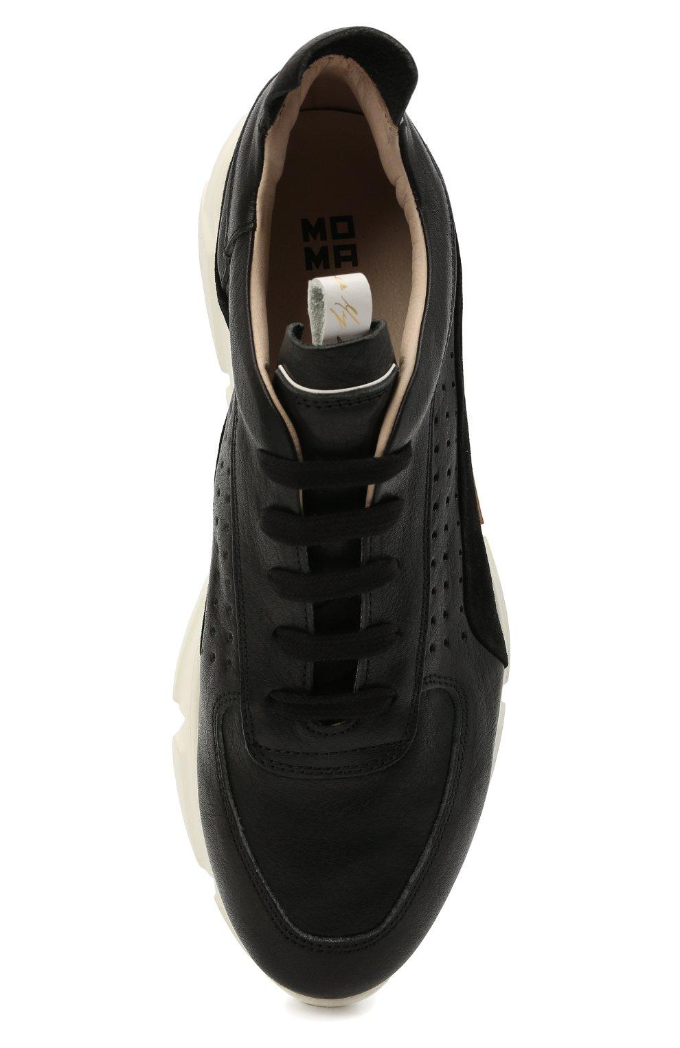 Мужские кожаные кроссовки MOMA черного цвета, арт. 4AS018-CT   Фото 5 (Материал внутренний: Натуральная кожа; Подошва: Массивная)