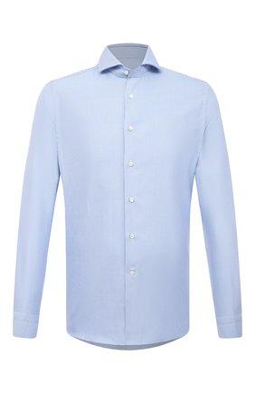 Мужская хлопковая сорочка CANALI голубого цвета, арт. XC8/GD00998 | Фото 1