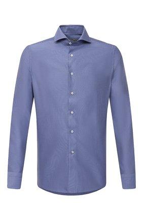 Мужская хлопковая сорочка CANALI синего цвета, арт. XC8/GD00998 | Фото 1
