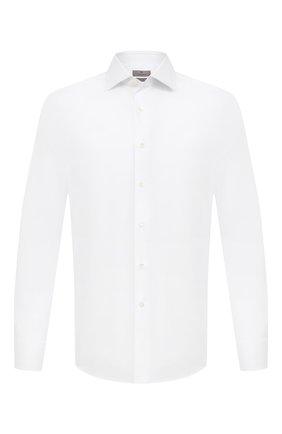 Мужская хлопковая сорочка CANALI белого цвета, арт. X58/GA01222 | Фото 1