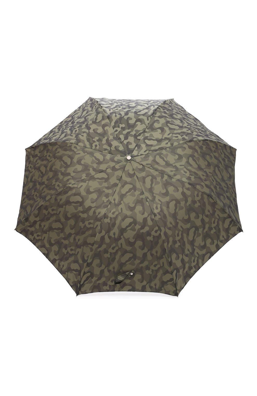 Мужской складной зонт PASOTTI OMBRELLI хаки цвета, арт. 64S/MILITARE 11780/254/T0PLESS | Фото 1 (Материал: Текстиль, Синтетический материал, Металл)