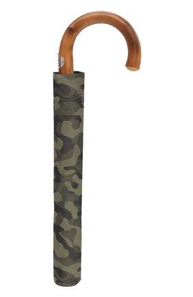 Мужской складной зонт PASOTTI OMBRELLI хаки цвета, арт. 64S/MILITARE 11780/254/T0PLESS | Фото 4 (Материал: Текстиль, Синтетический материал, Металл)