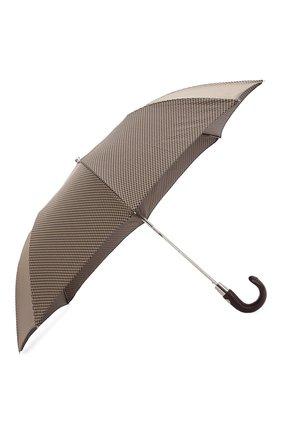 Мужской складной зонт PASOTTI OMBRELLI коричневого цвета, арт. 64S/52682/4/PELLE D0LL. | Фото 2