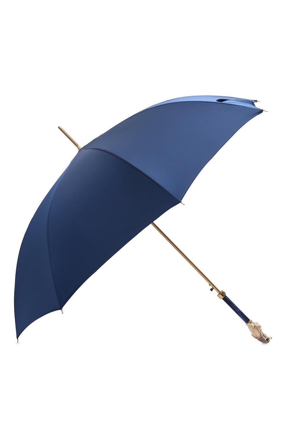 Мужской зонт-трость PASOTTI OMBRELLI темно-синего цвета, арт. 479/RAS0 0XF0RD/8/K68 | Фото 2 (Материал: Текстиль, Синтетический материал, Металл)