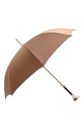 Мужской зонт-трость PASOTTI OMBRELLI коричневого цвета, арт. 479/RAS0 0XF0RD/2/K81 | Фото 2