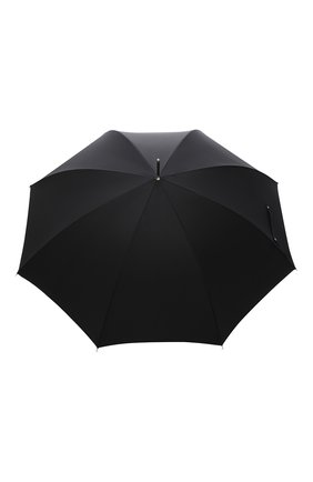 Мужской зонт-трость PASOTTI OMBRELLI черного цвета, арт. 478/RAS0 6768/1/PELLE D0LLAR0 | Фото 1