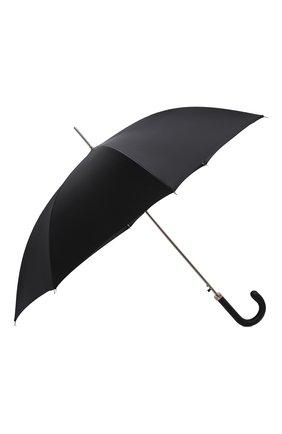 Мужской зонт-трость PASOTTI OMBRELLI черного цвета, арт. 478/RAS0 6768/1/PELLE D0LLAR0 | Фото 2