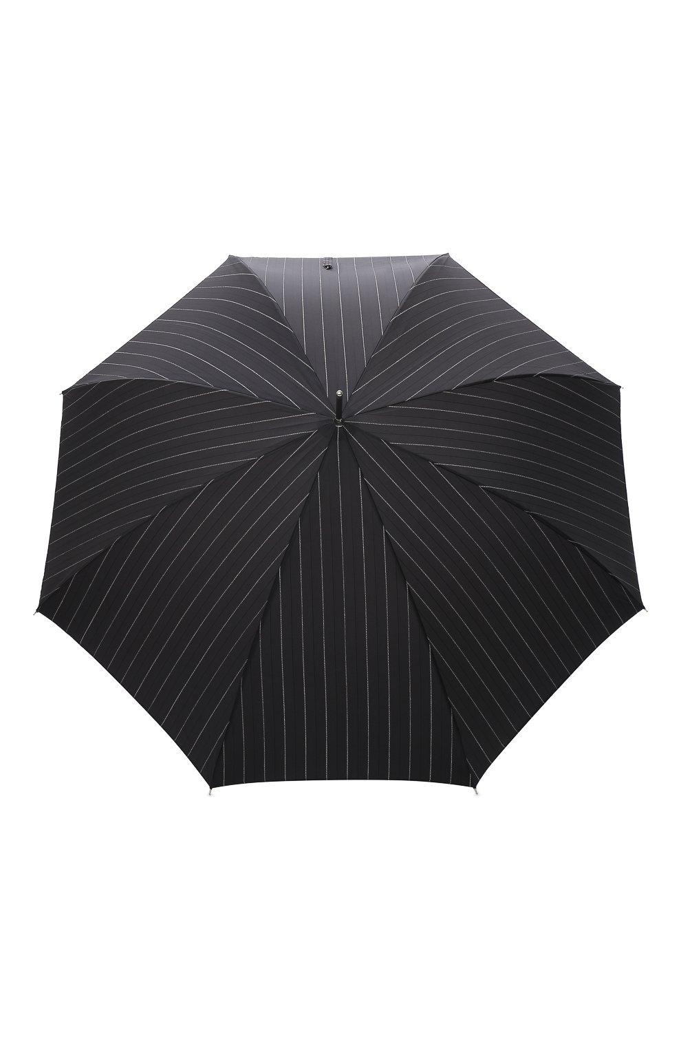 Мужской зонт-трость PASOTTI OMBRELLI черного цвета, арт. 478/RAS0 1094/1/M31 | Фото 1 (Материал: Текстиль, Синтетический материал, Металл)