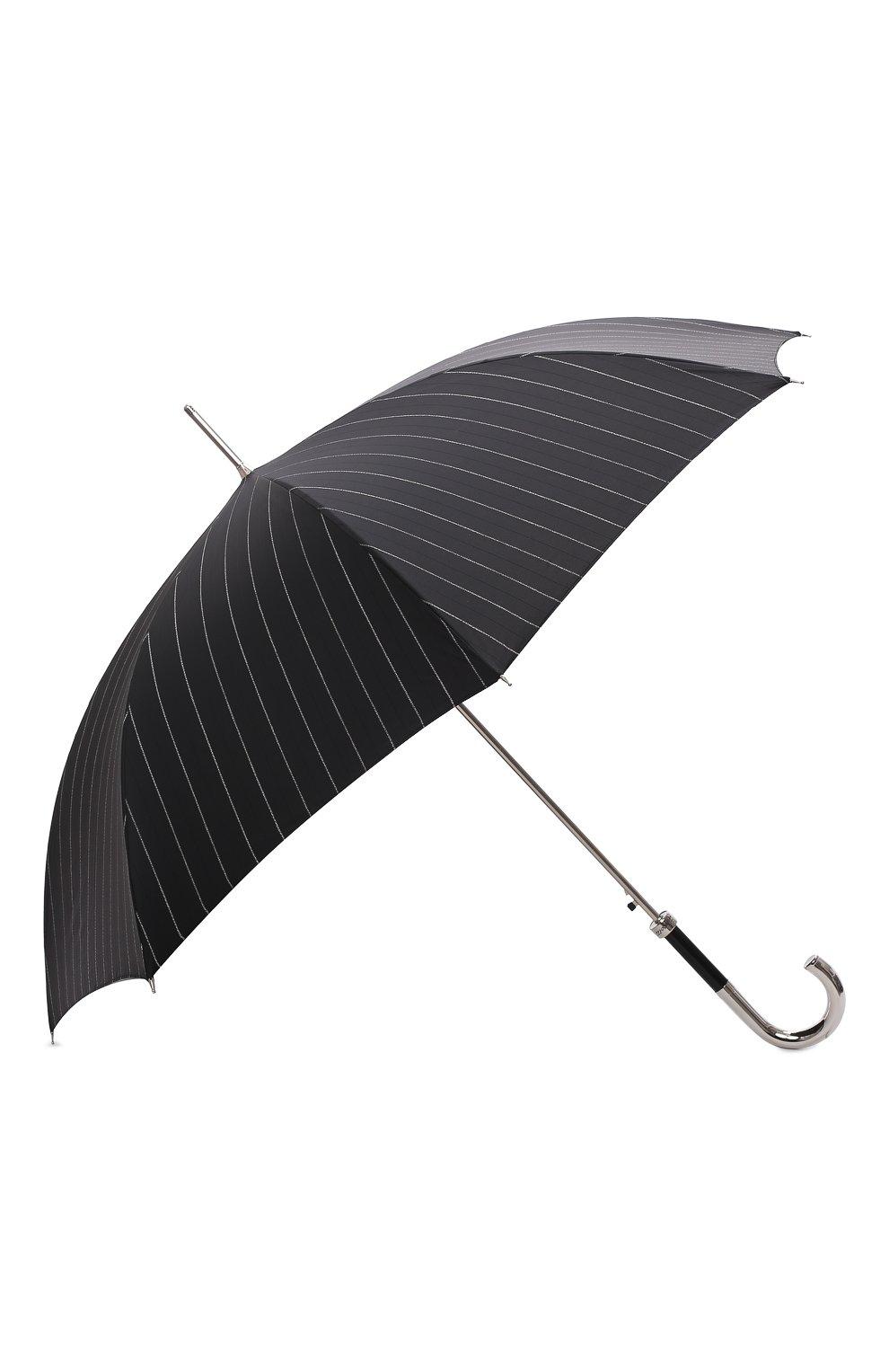 Мужской зонт-трость PASOTTI OMBRELLI черного цвета, арт. 478/RAS0 1094/1/M31 | Фото 2 (Материал: Текстиль, Синтетический материал, Металл)