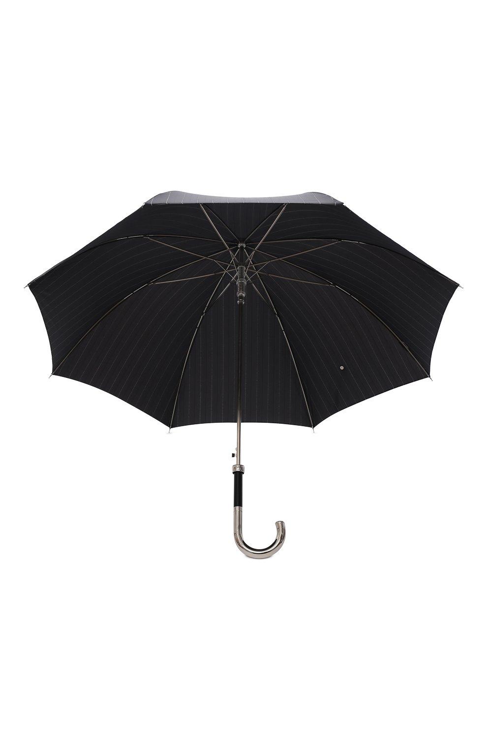 Мужской зонт-трость PASOTTI OMBRELLI черного цвета, арт. 478/RAS0 1094/1/M31 | Фото 3 (Материал: Текстиль, Синтетический материал, Металл)