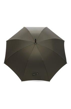 Мужской зонт-трость PASOTTI OMBRELLI хаки цвета, арт. 476/RAS0 0XF0RD/10 | Фото 1