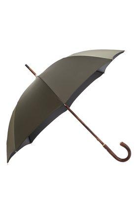 Мужской зонт-трость PASOTTI OMBRELLI хаки цвета, арт. 476/RAS0 0XF0RD/10 | Фото 2