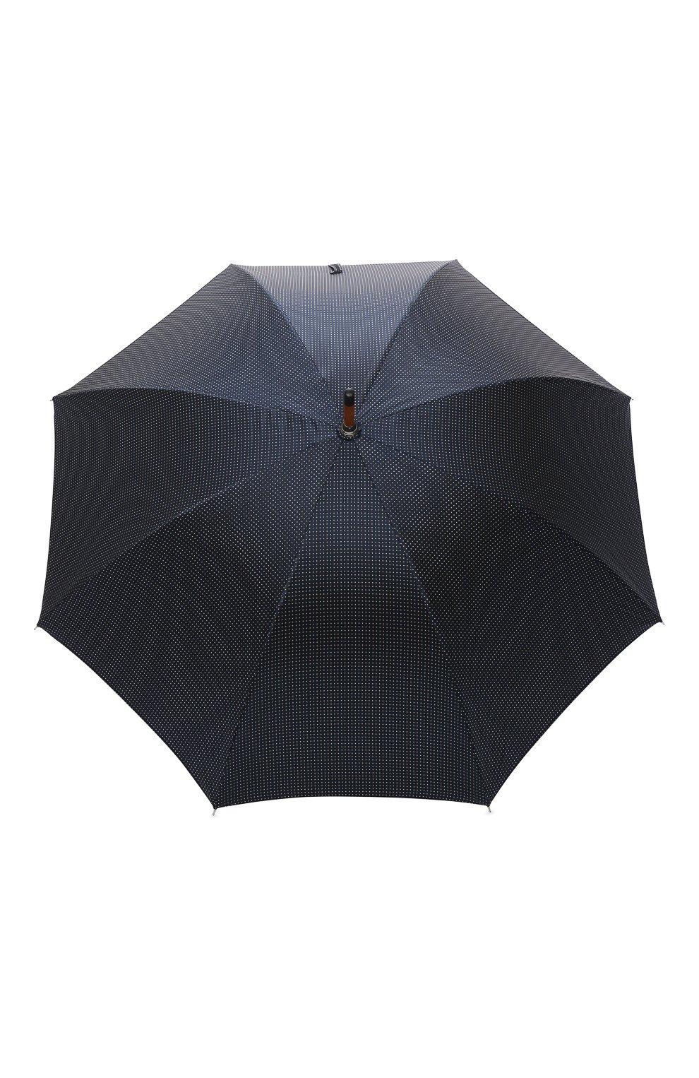 Мужской зонт-трость PASOTTI OMBRELLI темно-синего цвета, арт. 142/PUNT0/4   Фото 1 (Материал: Текстиль, Синтетический материал, Металл)