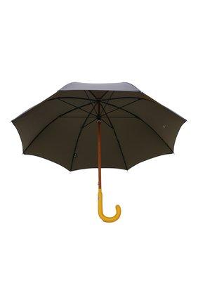 Мужской зонт-трость PASOTTI OMBRELLI темно-синего цвета, арт. 142/PUNT0/4   Фото 3 (Материал: Текстиль, Синтетический материал, Металл)