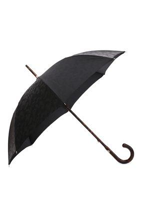 Мужской зонт-трость PASOTTI OMBRELLI черного цвета, арт. 142/MILITARE 11780/142 | Фото 2