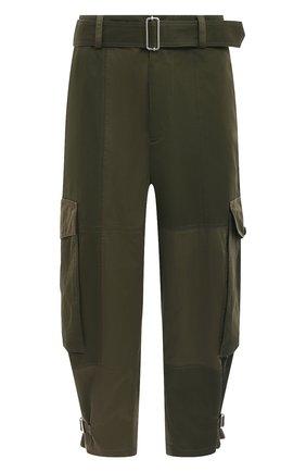 Мужские хлопковые брюки-карго JW ANDERSON хаки цвета, арт. TR0124 PG0464 | Фото 1