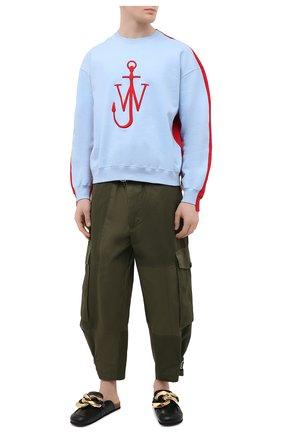 Мужские хлопковые брюки-карго JW ANDERSON хаки цвета, арт. TR0124 PG0464 | Фото 2